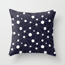 Abstract Network on Navy Throw Pillow