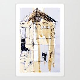 'throughout' Art Print