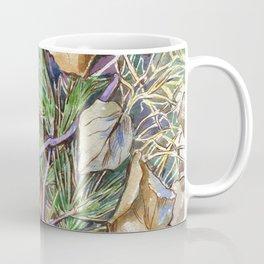 ground beneath my feet in autumn: twigs, pine needles, dry leaves, dry grass Coffee Mug