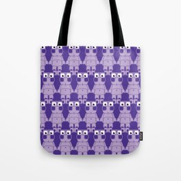 Super cute cartoon purple pig - bring home the bacon with everything for the pig enthusiasts! Tote Bag