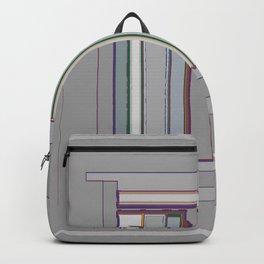 Grayfest in distorted stripes geometric fabric art Backpack