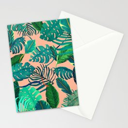 Summer Tropical Leaves Stationery Cards