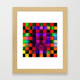 Rainbow Checkers Framed Art Print