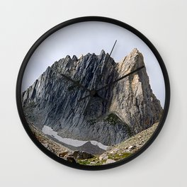 Alps Mountains Peak Rock Face Alpine Landscape Wall Clock