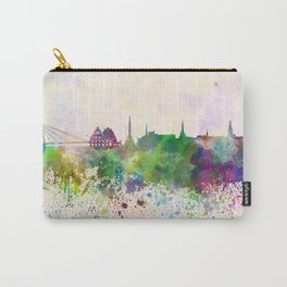 Riga skyline in watercolor background Carry-All Pouch