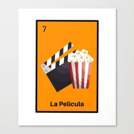 La Pelicula Mexican Loteria Bing Card Canvas Print