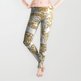 India henna pattern Leggings