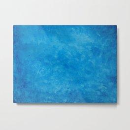 Blue Watercolor Metal Print