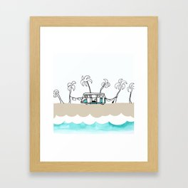Surfer Van - Surf Art - Gone Surfing Framed Art Print