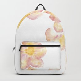 Delicate yellow-pink tropical flower Backpack