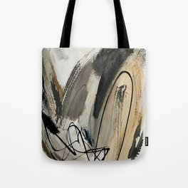 Drift [5]: a neutral abstract mixed media piece in black, white, gray, brown Tote Bag