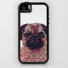 PUG- Hand-Rolled Paper Art iPhone Case
