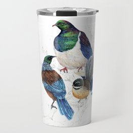 thee birds in a tree Travel Mug