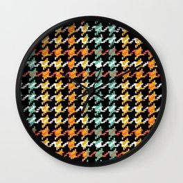 Pied-de-poule Wall Clock