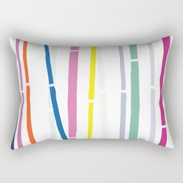 Rainbow Bamboo Rectangular Pillow