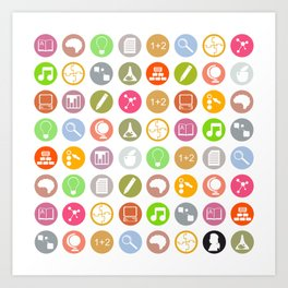 Science - Study Icons Art Print