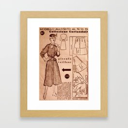 1950's vintage sewing pattern VIII Framed Art Print