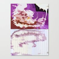 bleach Canvas Prints featuring Pink Bleach by Bzerk Creative
