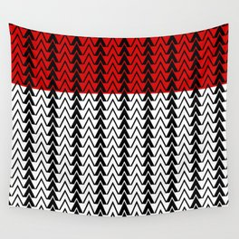 Red Line Red Peak Wall Tapestry