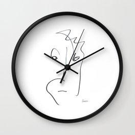 Demeter Moji d14 4-4 w Wall Clock