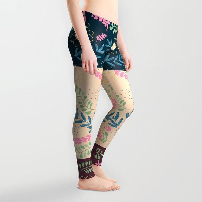 Floral Pattern- Namaste Monday Leggings