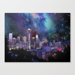 Spacey Seattle Canvas Print