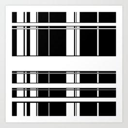 Black and White Lines Art Print