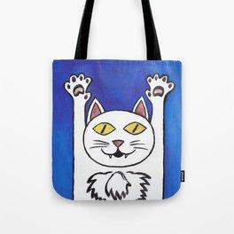 hurray cat Tote Bag