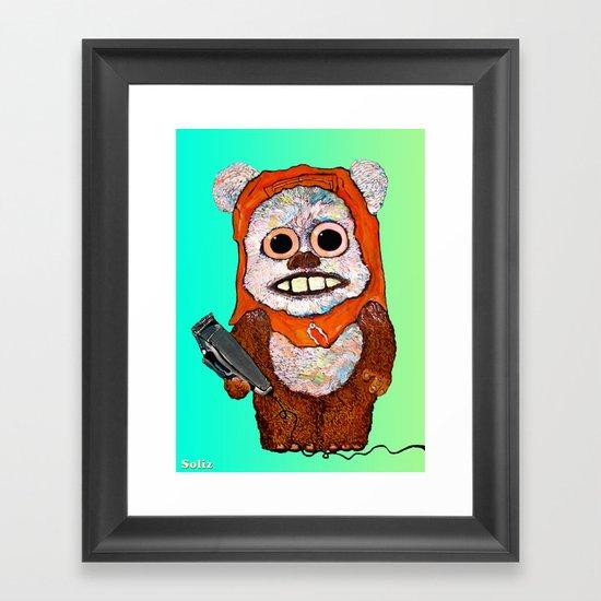 Eccentric Ewok Framed Art Print
