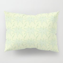 Japanese Maple Leaf and Seed Pattern Pillow Sham