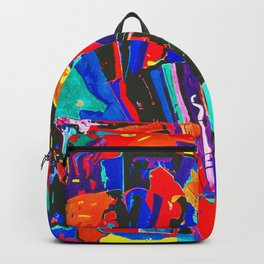 New Metropolis abstract painting Backpack