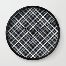 Squares and rectangles under the slope, checkered pattern. Wall Clock