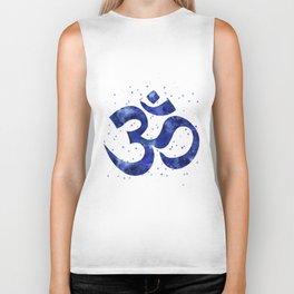 Ohm Symbol Blue Biker Tank