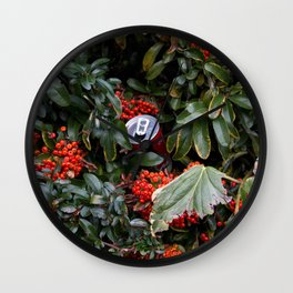 coke and berries Wall Clock