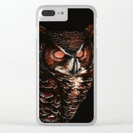 Owl, Barred Owl, Bird Clear iPhone Case
