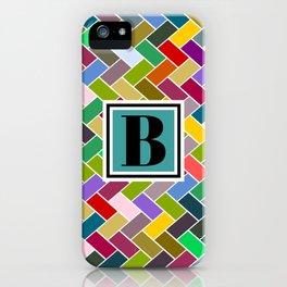 B Monogram iPhone Case
