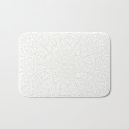 Cream on White Mandala Circle of Life Bath Mat