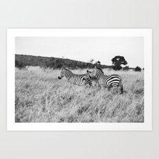 in a row::kenya Art Print