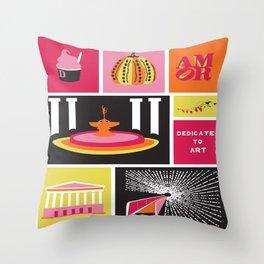 Dedicated To Art  Throw Pillow