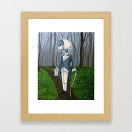 Mourning Walk Framed Art Print