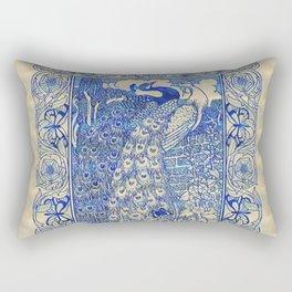 Garden Peacock Pair Rectangular Pillow