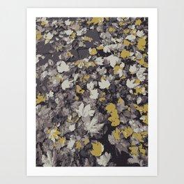 Fall Leaves III Art Print