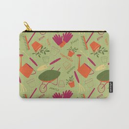 A Day in the Garden - Green Carry-All Pouch