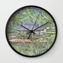 Traditional Korean 'Soswae garden'_A2 Wall Clock