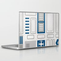 r2d2 Laptop & iPad Skins featuring R2D2 by Alison Lee