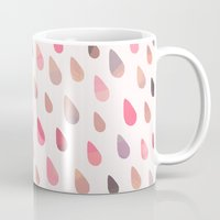 sloths Mugs featuring OPAL DROPS - DAWN COLORWAY by Daisy Beatrice