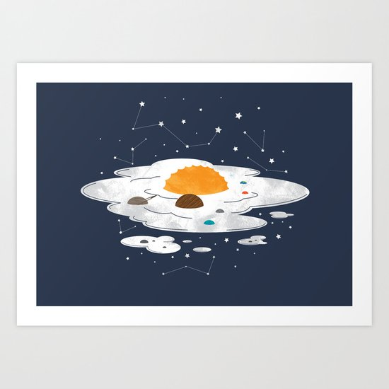 Egg Dimension Art Print