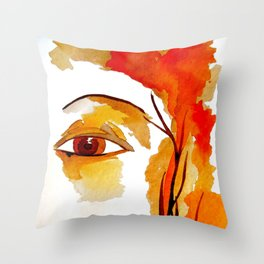 The Goddess of Autumn  Throw Pillow