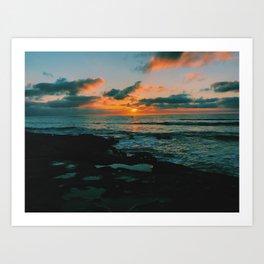OB sunset Art Print