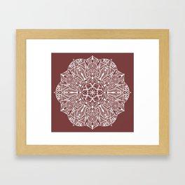 Land Mandala Framed Art Print